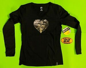 Can-Am Women's Jess Black Long Sleeve T-Shirt  **BRAND NEW**
