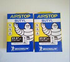 Lot 2 Chambre à air Vélo VTT Michelin 27,5 pouces Presta (Petite valve)