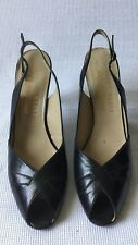 bruno magli womans Black Sling Back Peep Toe  Heels shoes 9 B Made In Italy