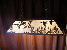 Laser cut Steel Mallard Duck Pool Table Light Lamp hunt cabin BLACK