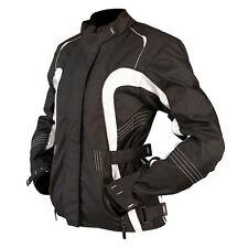 ARMR Moto Atsu Ladies Textile Motorcycle Jacket Black White Waterproof Bike 22