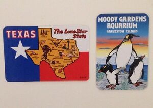 Miniature Vintage Texas Galveston Island Souvenir Swap Cards USA