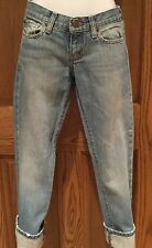 ABERCROMBIE AND FITCH CROPPED JEANS Size 00 EUC