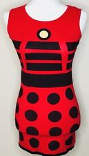 Doctor Who By Her Universe Dress Small Red Black Dalek Print Exterminate