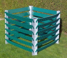 Kunststoff Profi Garten Komposter Kompostsilo 1000L Grau / Grün