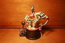 Antique Cast Iron Elephant & 3 Clowns Mechanical Bank by J & E Stevens cir. 1882