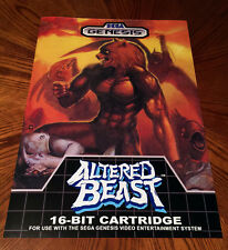 "Altered Beast Sega Genesis box case art retro video game 24"" poster print"
