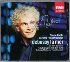 Simon RATTLE Signiert DEBUSSY La Mer La Boite à joujoux Preludes CD Autograph