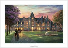 Thomas Kinkade Elegant Evening at Biltmore 24x36 S/N Limited Edition Paper