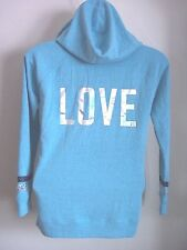 NWT Victoria's Secret Supermodel Hoodie Sweatshirt Bling Blue Medium Sequins