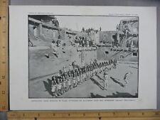 Rare Antique Original VTG KorKokshi Gods Dancing In Plaza Illustration Art Print