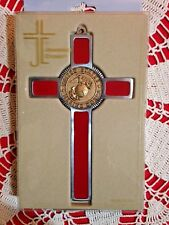 "U.S.MARINE CORP. CROSS  MEDALLION PEWTER 8"" IMPRESSIVE & Beautiful NEW in box"
