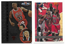 1996-97 Skybox Hoops Scottie Pippen Talkin Hoops #5 With 1997-98 Topps Card #1