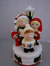 Vintage music box children carolers Christmas. Japan. Ceramic. Adorable.