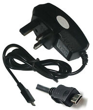 UK 3 Pin Mains Wall Home Travel Charger For Sonica BB1 Dual Sim Black