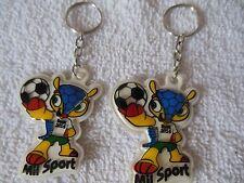 Brazilian**{ Mascote da copa 2014 }**Keychain **( Lot-of-2 )** Free  Shipping**