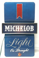 Vrtg Michelob Light On Draught Light Up Beer Bar Sign Wall Mounted ~ Working