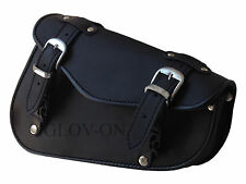 Solo Right side Harley Motorcycle Sportster Chopper Swingarm Leather Tool Bag
