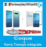 Coque Samsung S10 S10e S10+ Galaxy S10 Plus Etui  + Film Verre Trempe integrale