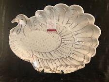 """Large Sigrid Olsen Home Melamine TURKEY Serving Platter  19"""" x 14.5"""