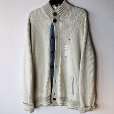 New Tommy Hilfiger THICK Cardigan Sweater Button Down Sweatshirt (Size XL)