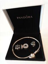 Pandora Charm Bracelet With 4 Charms