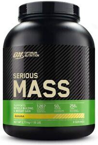 OPTIMUM NUTRITION ON Serious Mass Weight Gainer Protein Powder BANANA 2.73KG