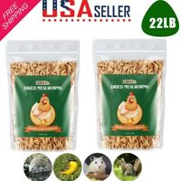 22 LBS Bulk Dried Mealworms for Wild Blue Birds Food NON GMO Chickens Hen Treats