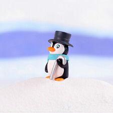 Pcs Figures Penguin Toy Party Winter DIY Ornament Crafts Christmas 4 Mini Moss