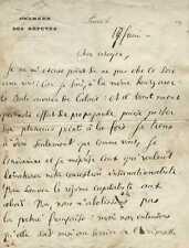 Jean JAURES  Manuscrit autographe signé. 6 pages sur le Socialisme
