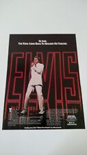"ELVIS PRESLEY ""IN 1968 THE KING CAME BACK"". RARE ORIGINAL PRINT PROMO POSTER AD"