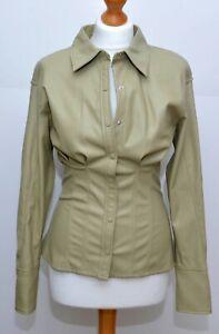 Stunning Zara Faux Leather Shirt Size S BNWOT