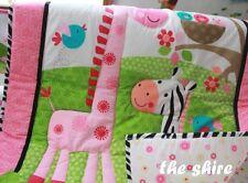 Baby Bedding Crib Cot Quilt Set- NEW 10pcs Quilt Bumper Sheet Dust Ruffle