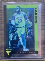 2019-20 Panini Chronicles #591 Lebron James Flux Green Lakers Card