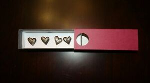 Vilmain + Klinger Valentine's Pewter Heart Push Pins Dorm Room Teen Wall Decor