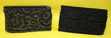 Lot Of 2 Vintage Handcrafted Unique Design Wooden Textile Printing Block. i77-94