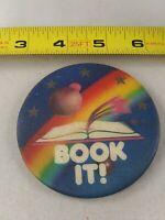 Vintage PIZZA HUT Book It! 1990 pin pinback button *QQ5