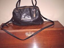 AUTHENTIC COACH 2WAY BLACK LEATHER HANDBAG SHOWS NORMAL WEAR - READ