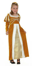 Girls Juliet Regal Medieval Tudor Maid Marian Fancy Dress Costume Kids Outfit 7 - 9 Years