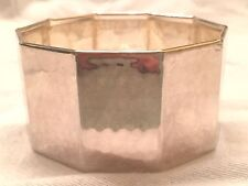 Made in Italy Bold Bangle Bracelet High Polished Textured Finish, Sterling 925