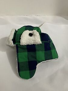 New with tag Pet Central Winter Warm Hat. Size Small with Ear Flaps Plaid