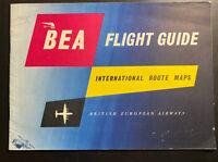 England BEA Airways 1958 Brochure Flight Guide International Routes Belfast