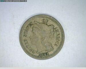 1881 Three Cent Nickel ( 74-299 7m1 )
