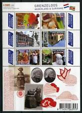 Nederland NVPH 2752-57b Vel Grenzeloos Nederland Suriname 2010 Postfris