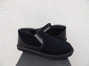 UGG RAKEL BLACK SUEDE/ SHEEPWOOL ANKLE BOOT SLIPPERS, MEN US 8/ EUR 40.5 ~NIB