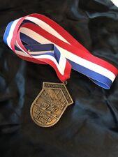 USAF Global Volksmarch St Louis Medal Vintage 1987 Red White Blue