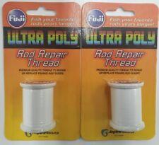 2-Fuji Ultra Poly Nylon 100M Spool White Rod Building Thread 2 Pack Npa00-002C