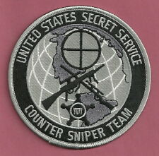 U.S. SECRET SERVICE COUNTER SNIPER TEAM POLICE PATCH GRAY