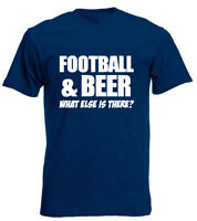 Football And Beer Mens T-Shirt Birthday Gifts For Husband Boyfriend Men Dad