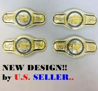 NEW WESTERN GOLD PRAYING COWBOY-ROOSTER-SCORPION-RUNNINGHORSE STYLE BELT BUCKLE